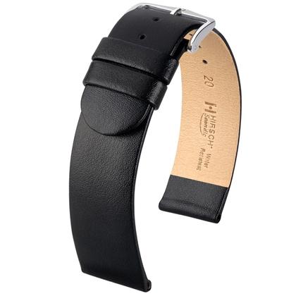 Hirsch Scandic Uhrenarmband Schwarz
