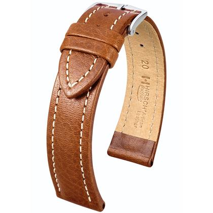 Hirsch Buffalo Uhrenarmband Goldbraun