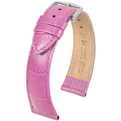 Hirsch Louisianalook Alligatorprint Uhrenarmband Rosa
