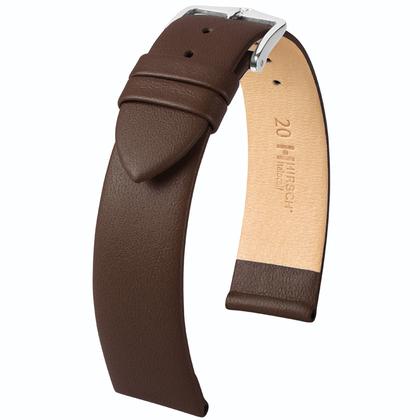 Hirsch Italocalf Uhrenarmband Braun