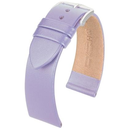 Hirsch Fashion Uhrenarmband Italienisches Nappa Kalbsleder Lavendel