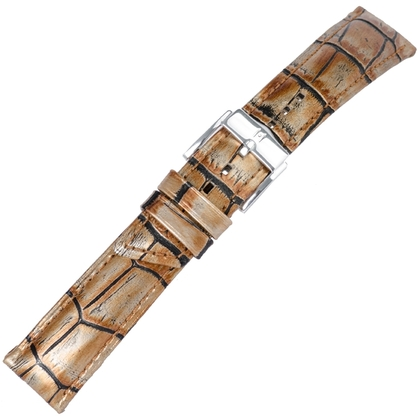 Hirsch Princess Pretiosa Uhrenarmband Alligatorgrain Bronze