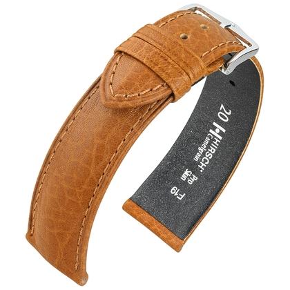 Hirsch Camelgrain Uhrenarmband Pro Skin Antiallergisch Honig