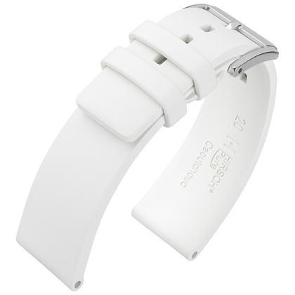 Hirsch Pure Uhrenarmband Premium Kautschuk Weiss