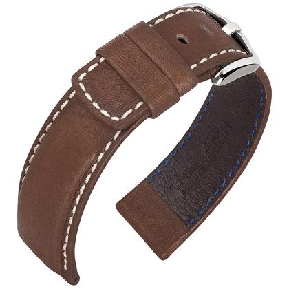 Hirsch Mariner Uhrarmband 100m Wasserfest Dunkelbraun