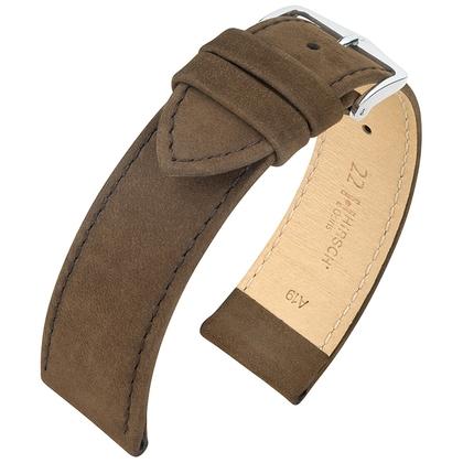 Hirsch Osiris Uhrenarmband Nubuk Braun