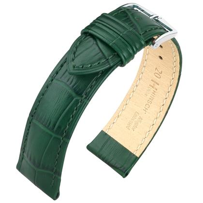 Hirsch Duke Uhrenarmband Alligatorgrain Grün