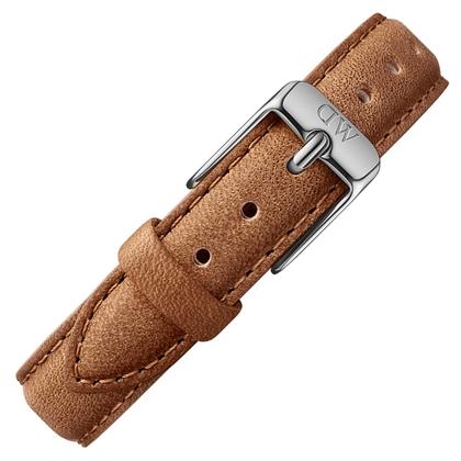 Daniel Wellington 12mm Dapper Durham Uhrenarmband Leder Braun mit Stahlschliesse