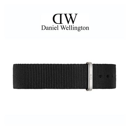 Daniel Wellington 14mm Petite Cornwall Uhrenarmband NATO Schwarz mit Stahlschliesse