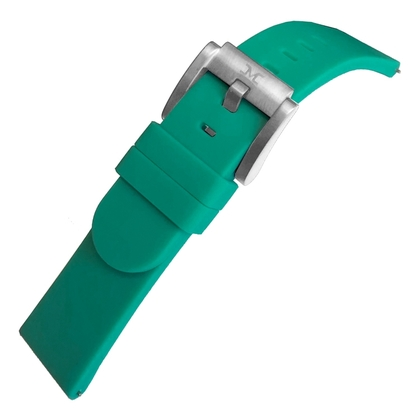 Marc Coblen / TW Steel Silikon Uhrenarmband Smaragdgrün 22mm