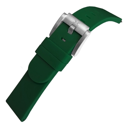 Marc Coblen / TW Steel Silikon Uhrenarmband Dunkelgrün 22mm