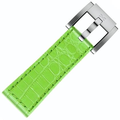 Marc Coblen / TW Steel Uhrenarmband Leder Alligator Hellgrün 22mm