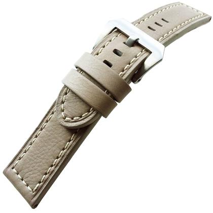 Vintage Uhrenarmband Lenzers Leder Grau