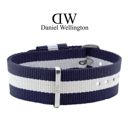 Daniel Wellington 20mm Classic Glasgow NATO Uhrenarmband mit Stahlschliesse