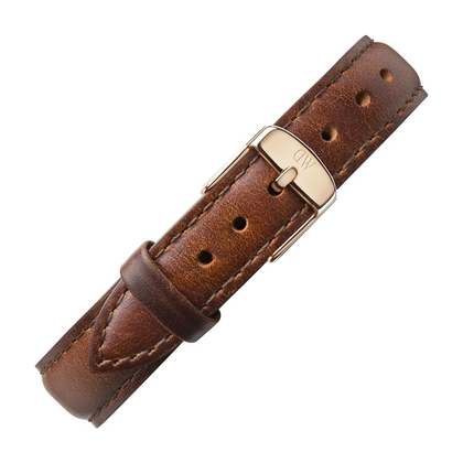 Daniel Wellington 14mm Petite St Mawes Uhrenarmband Leder Braun mit Roséschliesse