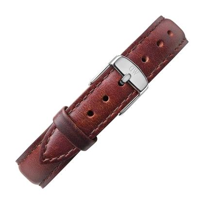 Daniel Wellington 14mm Petite St Mawes Uhrenarmband Leder Braun mit Stahlschliesse