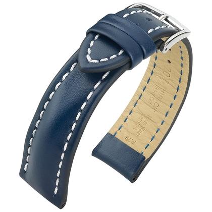 Hirsch Heavy Calf Uhrenarmband Water Resistant Blau