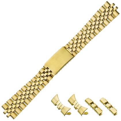 Jubilee Uhrenarmband 'Typ Rolex' Rostfreier Stahl Gold 20mm