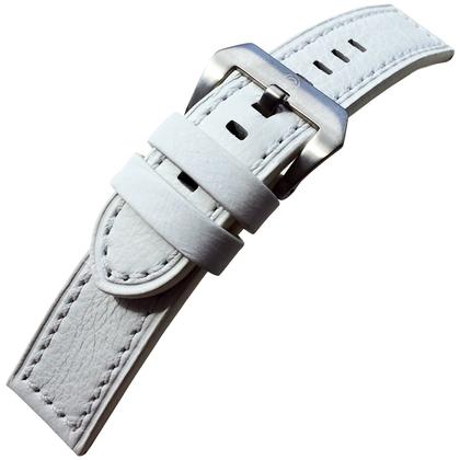 Vintage Uhrenarmband Lenzers Leder Weiss